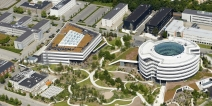 Novo Nordisk headquarters in perfect water balance